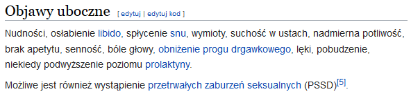 uboczne - proksatyna